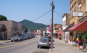 Gassaway, West Virginia - Elk Street (West Virginia Route 4) in downtown Gassaway in 2007