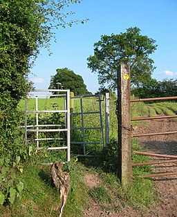Gate on the Sandstone Trail - geograph.org.uk - 193627 (1)