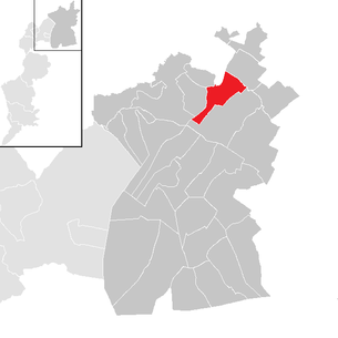 Location of the municipality of Gattendorf (Burgenland) in the Neusiedl am See district (clickable map)