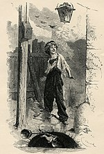 Illustration of Gavroche by Émile Bayard (1837-1891)