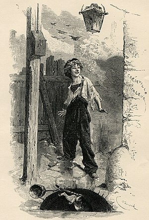Gavroche - Illustration of Gavroche by Émile Bayard (1837-1891)