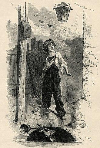 Gavroche - Illustration of Gavroche by Émile Bayard (1837-1891)