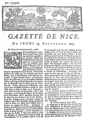 History of French journalism - Image: Gazette de Nice