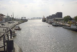 Geeste (river) - Confluence of the Geeste with the River Weser
