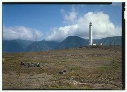 General View Of Lighthouse From Northwest - Moloka'i Light Station, Lighthouse, Makanalua,Moloka'i Island, Kalaupapa, Kalawao County, HI HABS HI,3-KALA.V,5-A-6 (CT).tif