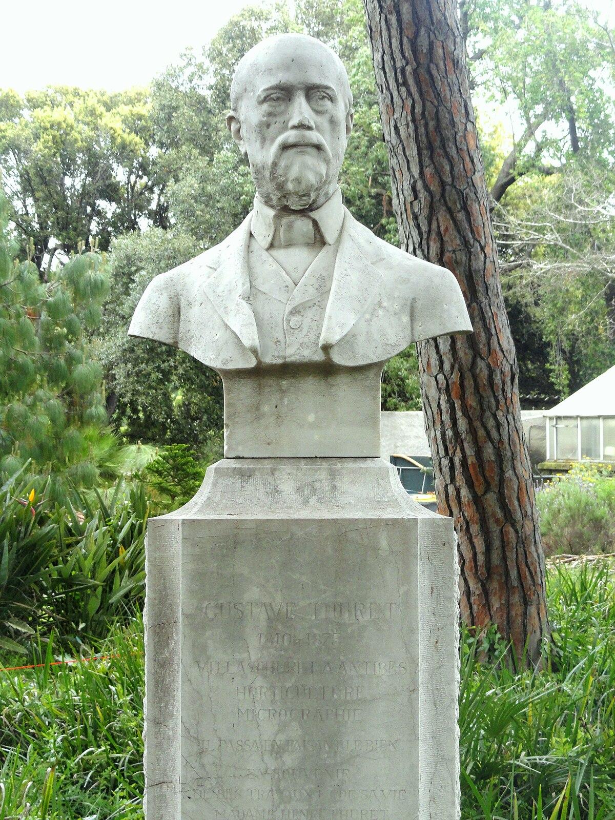 Gustave thuret wikipedia for Jardin villa thuret