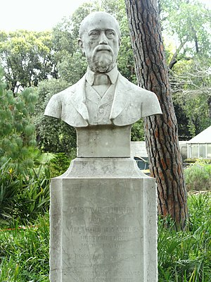 Gustave Thuret - Gustave Thuret, memorial bust in the Jardin botanique de la Villa Thuret