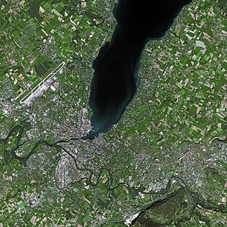 Geneva - Geneva seen from SPOT Satellite