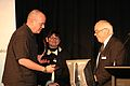 Geoff Clitheroe receives the Open Science Award on behalf of GNS Science (2) (8184677606).jpg