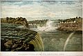 Geography; Niagara Falls, seen from a distance. Coloured lit Wellcome V0025165.jpg