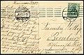 Georg Kugelmann PC 0581 Hannover, Partie am Listerturm, Adressseite 1909 von Kusnik an Familie Wittig in Bernburg ...jpg