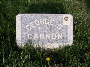 George Q. Cannon - George Q. Cannon's headstone.