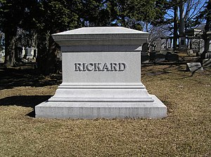 Tex Rickard - The grave of Tex Rickard in Woodlawn Cemetery