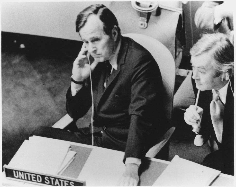 George Bush as United Nations Representative, 1971-72 - NARA - 186386