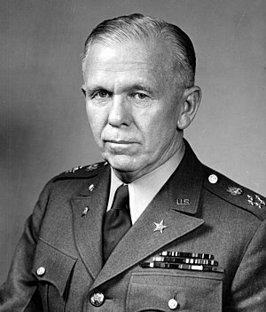 Marshall Scholarship - A portrait of George C. Marshall, former Secretary of State and Secretary of Defense, for whom the scholarships are named