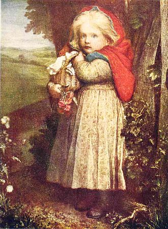 Adaptations of Little Red Riding Hood - Red Riding Hood by George Frederic Watts.