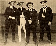 George Jeske, Charles Haefeli, Billy Franey, Charles Post - Aug 1920 EH.jpg
