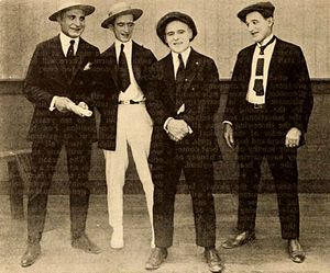 George Jeske - George Jeske, Charles Haefeli, Billy Franey, and Charles Post in 1920