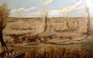 George Landseer - The Foal run, Buxar, India
