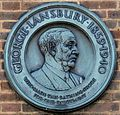 George Lansbury memorial plaque, Hyde Park Lido.JPG