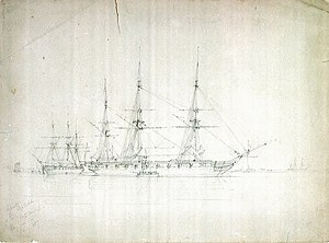 George Pechell Mends, HMS Cossack and Tartar, probably on the North American station, January 1857.jpg