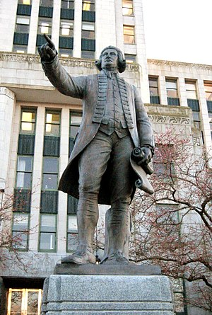 History of Vancouver - A statue of Captain Vancouver, outside Vancouver City Hall