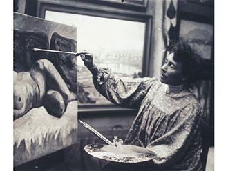 Georgette Agutte - Georgette Agutte in her studio
