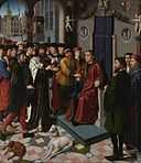 Gerard David - The Judgment of Cambyses, panel 1 - The capture of the corrupt judge Sisamnes.jpg