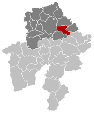 Gesves - Image: Gesves Namur Belgium Map