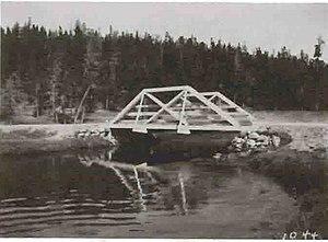 Gibbon River - Image: Gibbon River Bridge Norris 1912