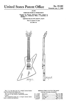 Gibson Futura - Image: Gibson Explorer patent