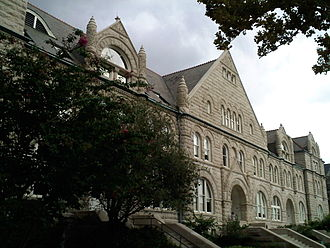 Tulane University - Gibson Hall today. Facing historic St. Charles Avenue, it is the entry landmark on the uptown campus.