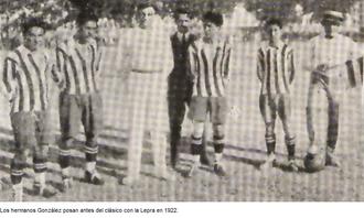 Gimnasia y Esgrima de Mendoza - The González Brothers before a derby in 1922.