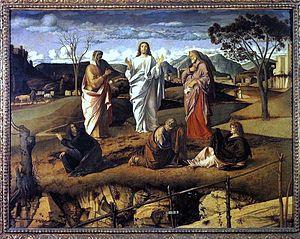 BELLINI, Giovanni Transfiguration of Christ Oi...