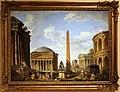 Giovanni paolo panini, capriccio romano, il pantheon e altri monumenti, 1735.jpg