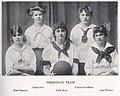 Girls Freshman Basketball Team in 1915, Kipikawi Yearbook 1915 from Racine High School, Racine, Wisconsin, USA (page 47 crop).jpg