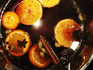 Mulled wine - Mulled wine steeping