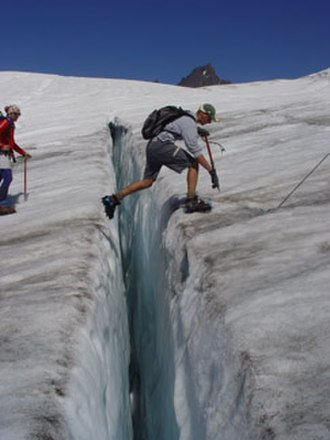 Crevasse - Easton Glacier, Mount Baker, in the North Cascades, Washington