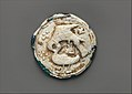Glass Medallion with Molded Decoration MET DP273217.jpg