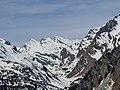 Gletscherhorn, Piz Predarossa and Piz Mungiroi as seen from Maloja.jpg
