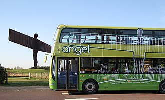 Go North East - Angel 21 bus at the Angel of the North