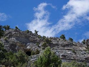 Goshute Canyon Wilderness - Goshute Cave entrance in Goshute Canyon Wilderness