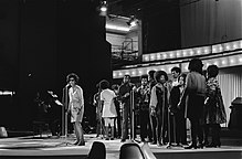 The Edwin Hawkins Singers performing at the 1970 Edison Awards