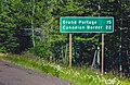 Grand Portage - Canadian Border - Distance Mileage Sign Minnesota (36109095141).jpg