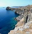 Graue Felsen, türkises Wasser - panoramio.jpg