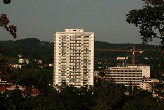 Geidorf - The Elisabeth high riser in Geidorf is the biggest apartment building in Graz.