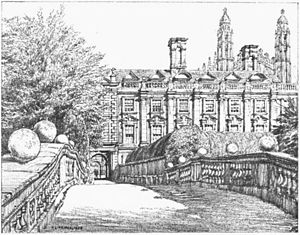 Griggs 1910 - Clare College from Bridge - gutenberg 38735 img022.jpg