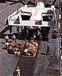 Grumman C-2A Greyhound unloads cargo aboard USS Hornet (CVS-12), circa in 1968.jpg