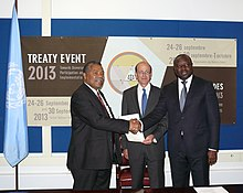 Guinea-Bissau ratifies the Comprehensive Nuclear-Test-Ban Treaty bringing the Treaty to 160 ratifications. (9930573616).jpg