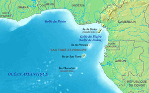 (en) Map in French of the Gulf of Guinea area ...